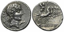 Ancient Coins - C. Vibius C.f. Pansa, Rome 90 BC. AR Denarius