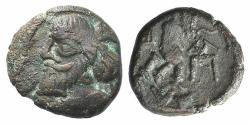 Ancient Coins - Indo-Parthians, Gondopharid Dynasty. Sanabares (Usurper, mid 1st century AD). Æ Drachm Ex Simonetta Collection