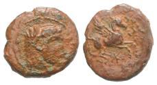 Ancient Coins - Sicily, Kephaloidion, c. 339/8-307 BC. Æ 13mm