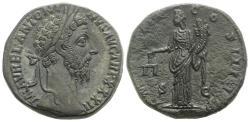 Ancient Coins - Marcus Aurelius (161-180). Æ Sestertius. Rome, AD 178. R/ Aequitas