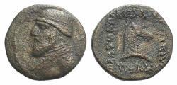 Ancient Coins - Kings of Parthia, Mithradates II (121-91 BC). Æ Dichalkon Ex Simonetta Collection