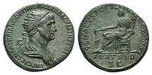 Ancient Coins - Trajan (98-117). Æ Dupondius
