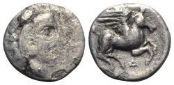 Ancient Coins - Illyria, Dyrrhachion, c. 344-300 BC. AR Drachm R/ Pegasos