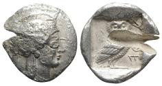Ancient Coins - Attica, Athens, c. 510-500/490 BC(?). AR Tetradrachm. INTERESTING Eastern imitation RARE