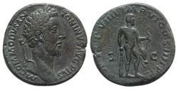 Ancient Coins - Commodus (177-192). Æ Sestertius. Rome, AD 183.  R/ HERCULES