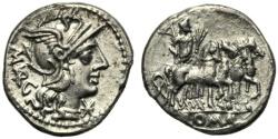 Ancient Coins - M. Vargunteius, Denarius, Rome, 130 BC