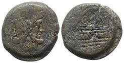 Ancient Coins - C. Junius C.f., Rome, 149 BC. Æ As