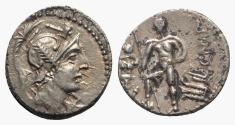 Ancient Coins - C. Malleolus, Rome, 96 BC. AR Denarius