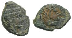 Ancient Coins - Sicily, Himera as Thermai Himerensis, c. 4th-3rd century BC. Æ 14mm