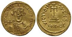 Ancient Coins - Constans II (641-668). GOLD Solidus. Constantinople, 641-6.