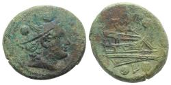 Ancient Coins - Anonymous, Luceria, 211-208 BC. Æ Sextans