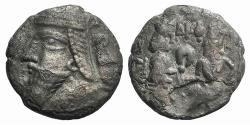 Ancient Coins - Kings of Parthia, Vologases VI (c. AD 208-228). BI Tetradrachm Ex Simonetta Collection