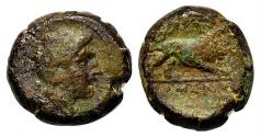 Ancient Coins - Anonymous, Southern Italy, c. 260 BC. Æ 21mm