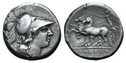 Ancient Coins - ITALY. Northern Campania, Cales, c. 265-240 BC. AR Didrachm RARE