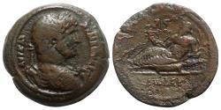 Ancient Coins - Hadrian (117-138). Egypt, Alexandria. Æ Drachm. Dated RY 12 (127/8).  R/ Nilus