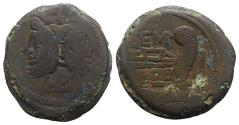 Ancient Coins - L. Sempronius Pitio, Rome, 148 BC. Æ As