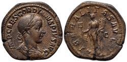 Ancient Coins - Gordian III (238-244). Æ Sestertius. Rome, AD 239. R/ Liberalitas