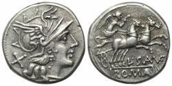 Ancient Coins - L. Saufeius, Rome, 152 BC. AR Denarius