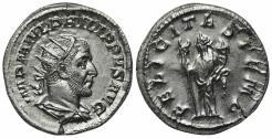 Ancient Coins - Philip I (244-249). AR Antoninianus