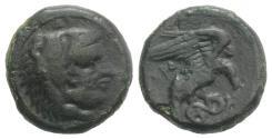 Ancient Coins - Bruttium, Kroton, c. 350-300 BC. Æ 18mm