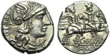 Ancient Coins - Cn. Lucretius Trio, Denarius, Rome, 136 BC