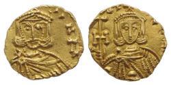 Ancient Coins - Constantine V (741-775). AV Tremissis