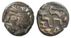 Ancient Coins - Indo-Parthians, Gondopharid Dynasty. Sanabares (Usurper, mid 1st century AD). Æ Drachm Ex Simonetta Collection