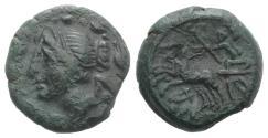 Ancient Coins - Bruttium, The Brettii, c. 208-203 BC. Æ Half Unit