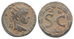 Ancient Coins - Elagabalus (218-222). Seleucis and Pieria, Antioch. Æ 18mm.  R/ Large S • C