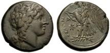 Ancient Coins - Sicily, Hiketas (287-278), Bronze, Syracuse, c. 287-278 BC