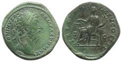 Ancient Coins - Marcus Aurelius (161-180). Æ Sestertius. Rome, AD 169. R/ Aequitas