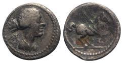 Ancient Coins - Q. Titius, Rome, 90 BC. AR Quinarius