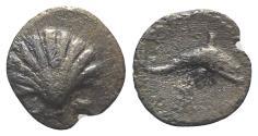Ancient Coins - Southern Apulia, Tarentum, c. 280-228 BC. AR Litra