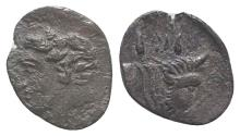Ancient Coins - Sicily, Panormos as Ziz, c. 405-380 BC. AR Litra. R/ Forepart of a man-headed bull