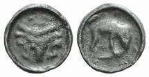 Ancient Coins - Celtic. Gaul, Northeast, Remi, c. 100-50 BC. Potin Unit