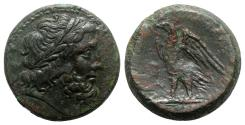 Ancient Coins - Ptolemaic Kings of Egypt, Ptolemy II Philadelphos (285-246 BC). Æ 26mm. Diademed head of Zeus-Ammon r. R/ Eagle