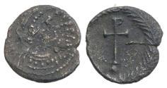 Ancient Coins - Justin II (565-578). AR Quarter Siliqua