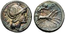 Ancient Coins - L. Flaminius Chilo, Denarius, Rome, 109 or 108 BC