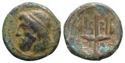 Ancient Coins - Sicily, Syracuse, 214-212 BC. Æ 13mm