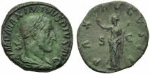 Ancient Coins - Maximinus I (235-238), Sestertius, Rome, AD 235-236