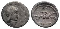 Ancient Coins - ROME REPUBLIC L. Calpurnius Piso Frugi, Rome, 90 BC. AR Denarius R/ Horseman