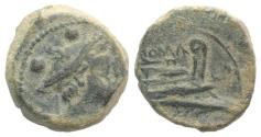 Ancient Coins - Anonymous, Canusium, 209-208 BC. Æ Sextans