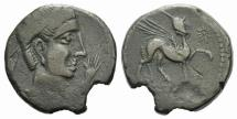 Ancient Coins - Iberia, Kastilo, late 2nd century BC. Æ As
