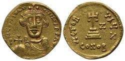 Ancient Coins - Constans II (641-668). AV Solidus. Constantinople, year 7 (648/9).