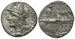 Ancient Coins - M. Baebius Q.f. Tampilus, Rome, 137 BC. AR Denarius