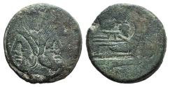 Ancient Coins - Butterfly and vine-branch series, Rome, 169-158 BC. Æ As
