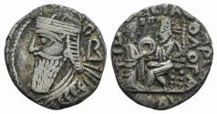 Ancient Coins - Kings of Parthia, Vologases IV (AD 147-191). BI Tetradrachm Ex Simonetta Collection
