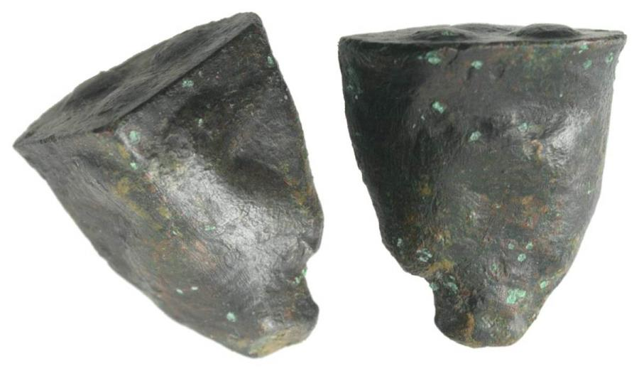 Ancient Coins - Sicily, Akragas, c. 450-440 BC. Cast Æ Tetras or Trionkion