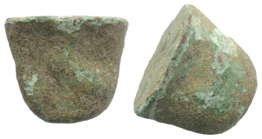 Ancient Coins - Sicily, Akragas, c. 440-430 BC. Cast Æ Trias or Tetronkion