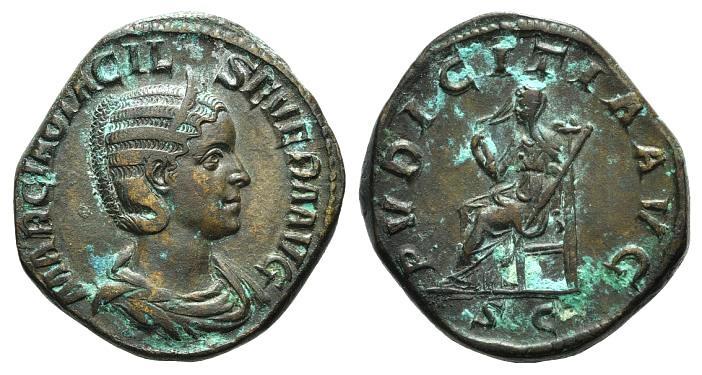 Ancient Coins - Otacilia Severa (Augusta, 244-249). Æ Sestertius